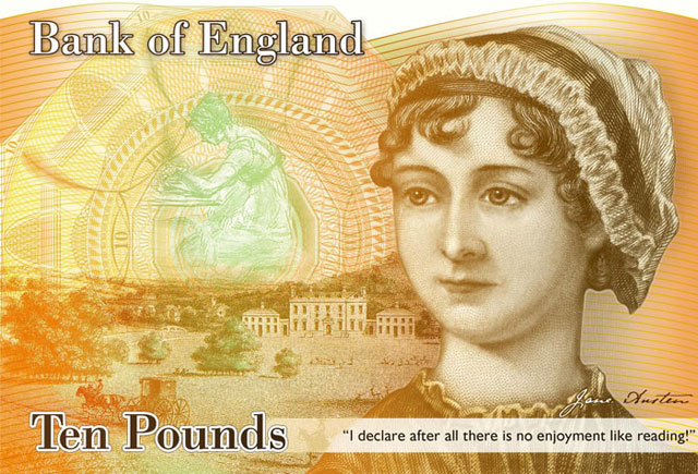 Jane Austin and money - on the face of the £10 note